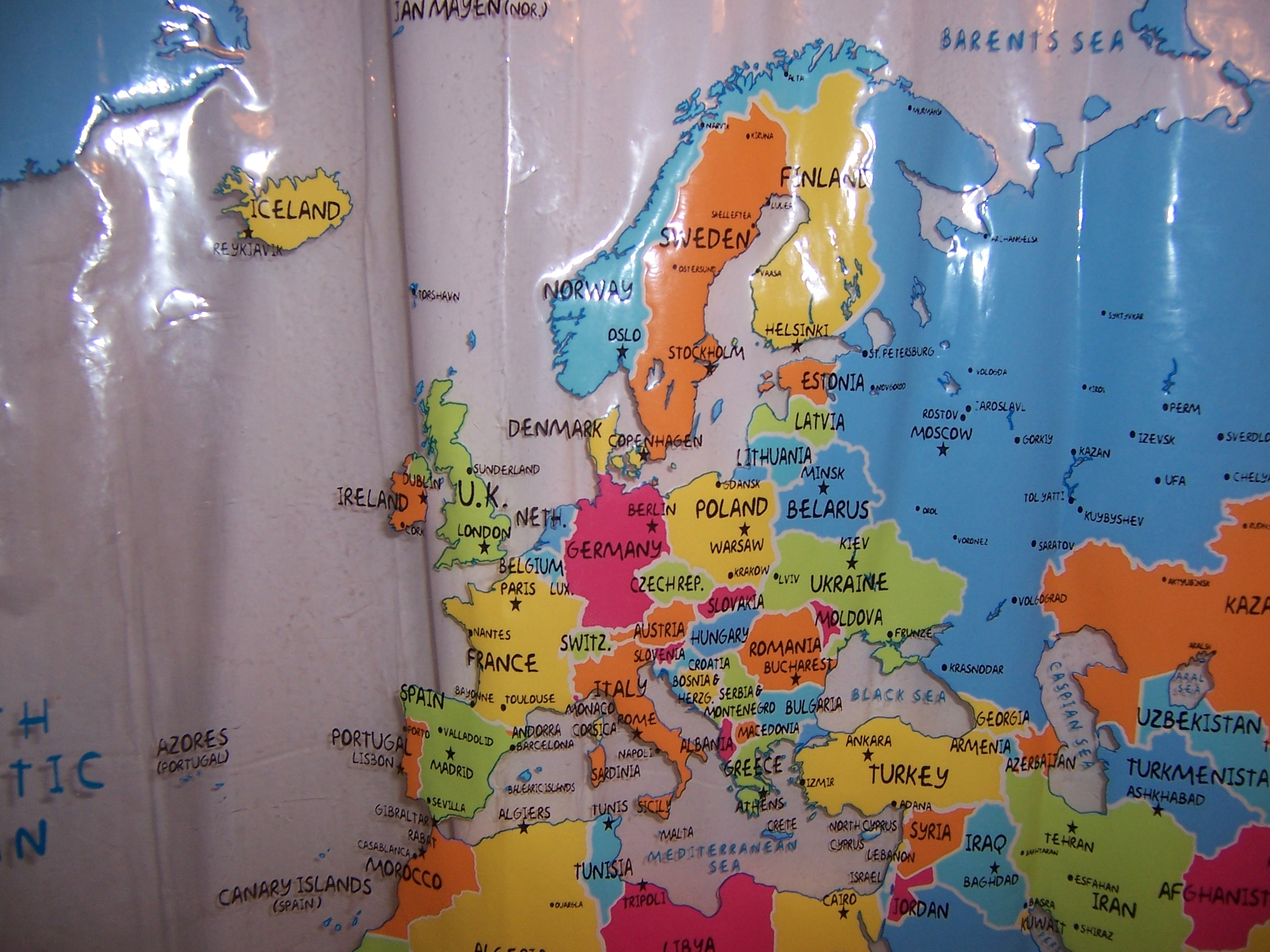 World Map Shower Curtains Of this shower curtain map