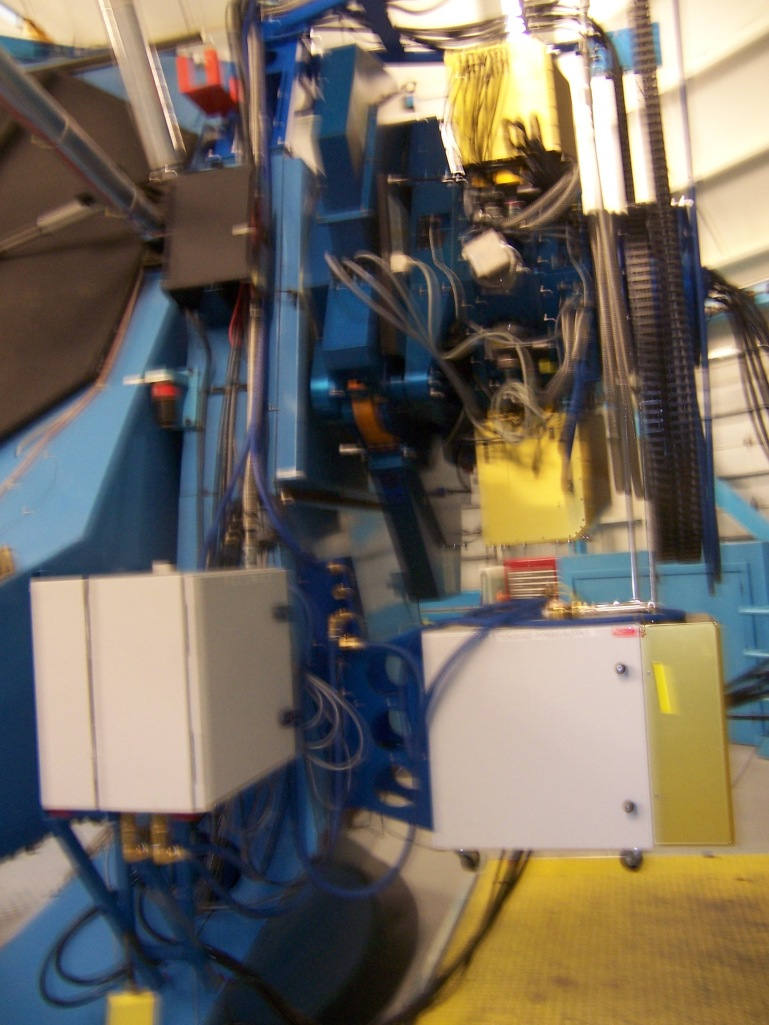 The One Degree Imager, an orthogonal transfer array that stabilizes the image in real-time within the CCD. Taking a blurry photo of it is deeply ironic.