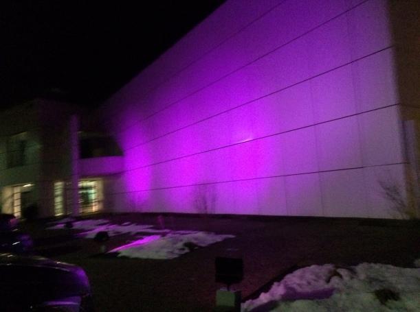 Purple wall, purple wall
